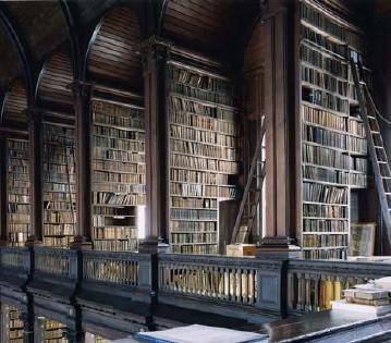 Seemingly endless shelves of books.